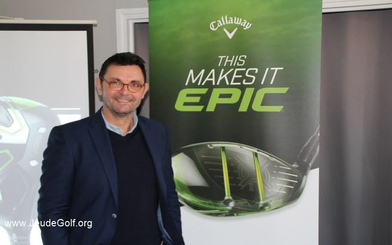 Emmanuel Gedouin, directeur commercial Callaway Europe du Sud au moment du lancement du Callaway EPIC en France