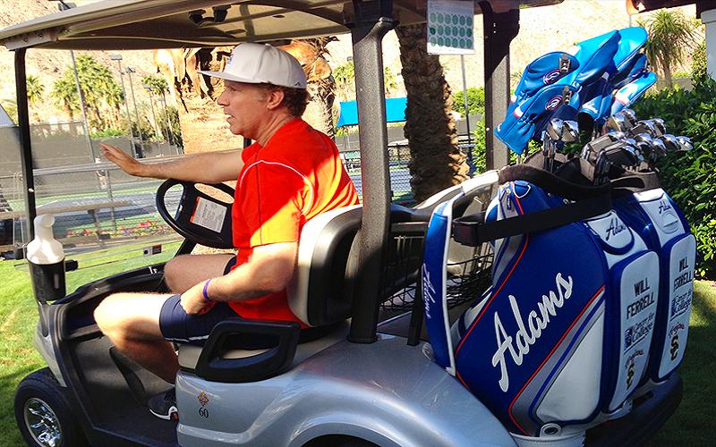 Le comédien Will Ferrell joue du Adams Golf @AdamsGolf