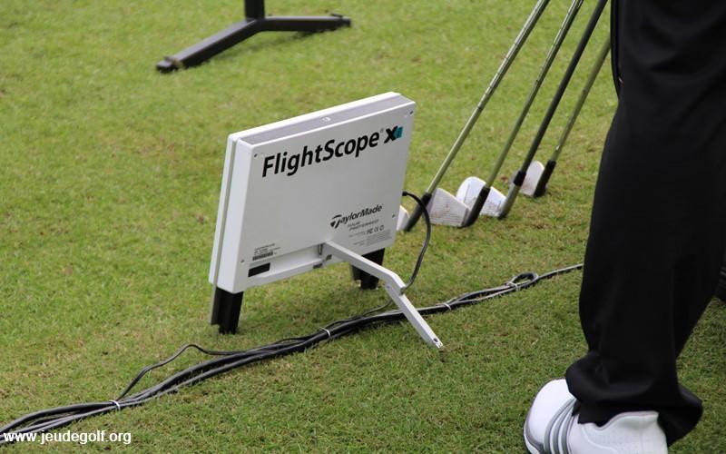 Vue du stand Flightscope au PGA Merchandise Show d'Orlando