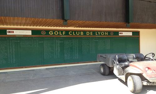 Le tableau d'honneur du Golf Club de Lyon