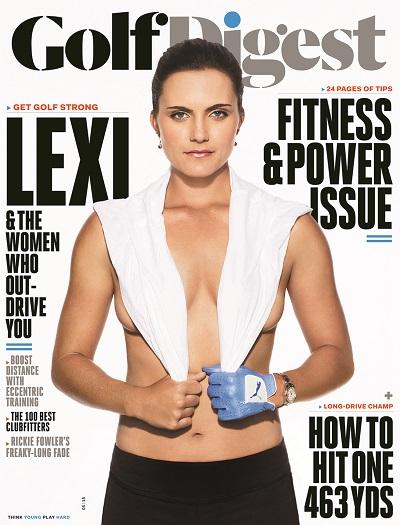Lexi Thompson en couverture de magazine