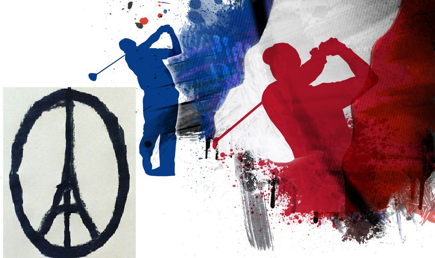 La France du golf solidaire des attentats de Paris 2015