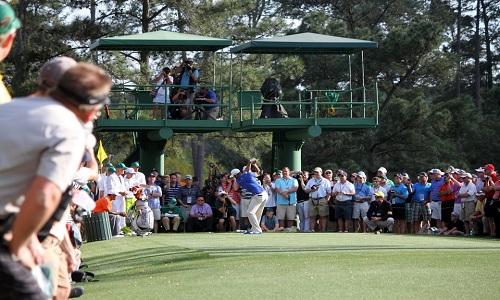 Au départ du Masters d'Augusta 2014
