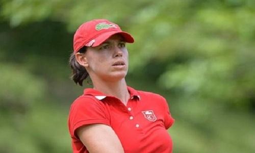 Karine Icher, membre de l'équipe européenne de Solheim Cup