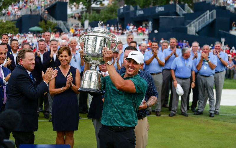 Brooks Koepka remporte l'US PGA Championship 2018 - crédit photo : Tim Spyers/Icon Sportswire