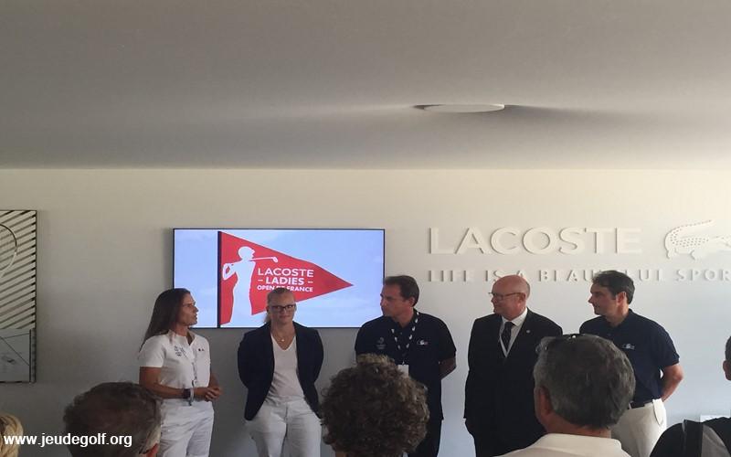 Patricia Meunier-Lebouc en ambassadrice du Lacoste Ladies Open de France