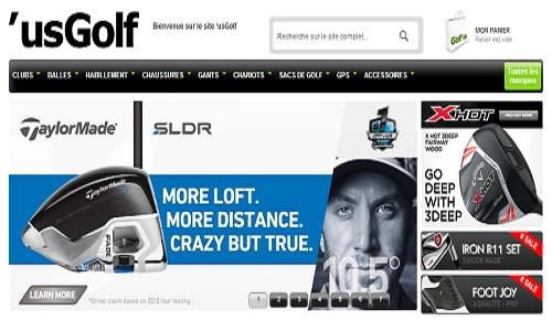 Le nouveau site US'GOLF
