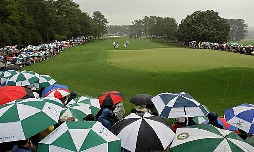 Lundi, la météo n'a pas été très clémente avec Augusta
