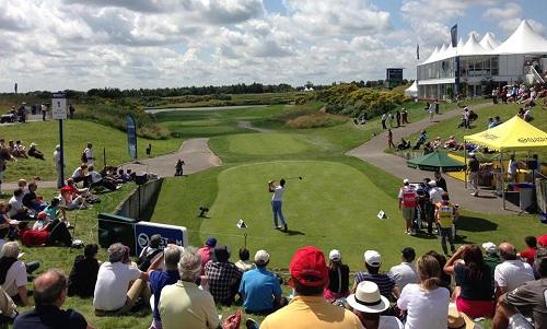Au départ de l'Open de France de golf