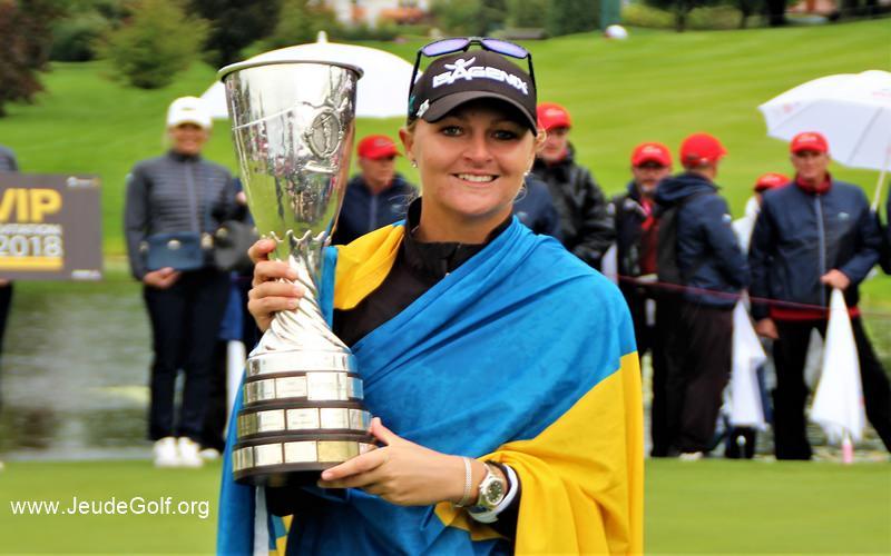 Dans les yeux d'Anna Nordqvist... victorieuse du Evian Championship 2017