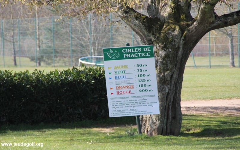 Le practice du golf de Bourg-En-Bresse