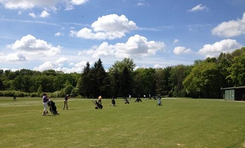 Le practice du Golf Club de Lyon