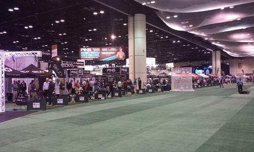 Practice indoor du PGA Merchandise Show