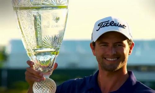 Adam Scott tout juste vainqueur du Barclays Championship