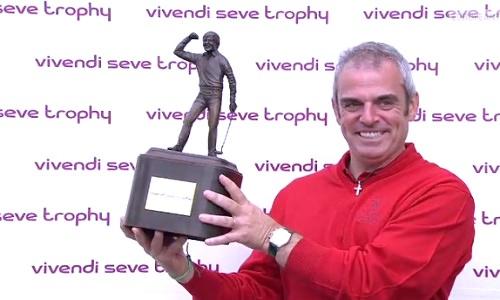 Paul McGinley vainqueur du Seve Trophy 2011 a choisi les capitaines de l'édition 2013