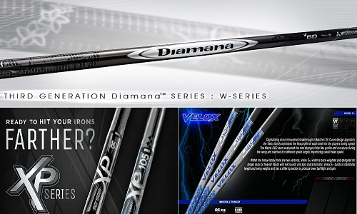 Les shafts de demain ! Matrix Velox, True Temper XP, et Mitsubishi Diamana W-SERIES