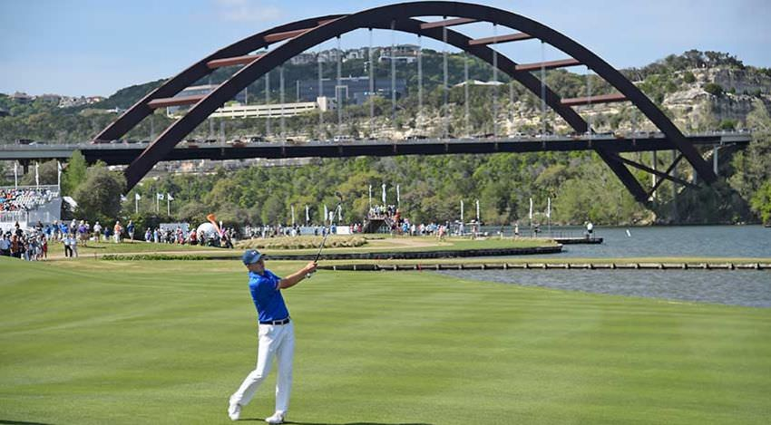Spieth au cours de son match contre Dubuisson