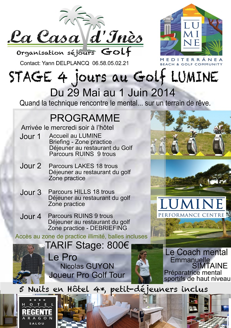 Stages de golf Emmanuelle Simtaine