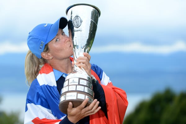 Suzann Pettersen, première lauréate de l'Evian Championship