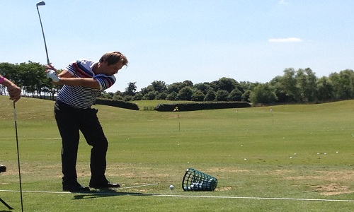 Phase de transition entre le backswing et le downswing