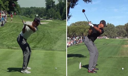 Différences entre le swing de Woods avant et après son opération du dos
