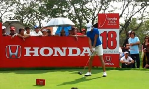 Yani Tseng au drive sur le HONDA Classic 2012 en Thailande