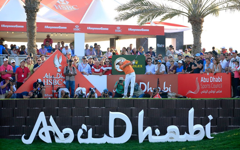 Rickie Fowler. Crédit photo Getty Images, Abu Dhabi Sports Council