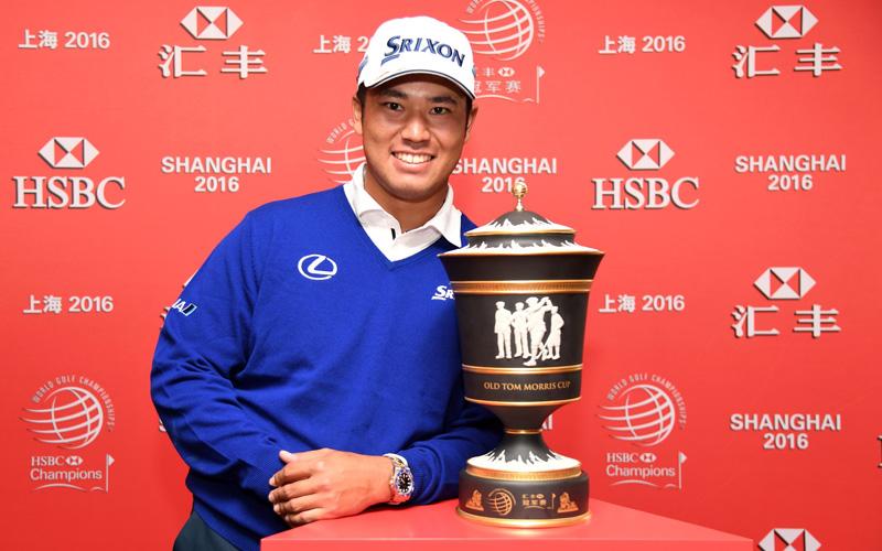 Hideki Matsuyama vainqueur du WGC-HSBC Championships. Crédit photo : HSBC/Getty Images