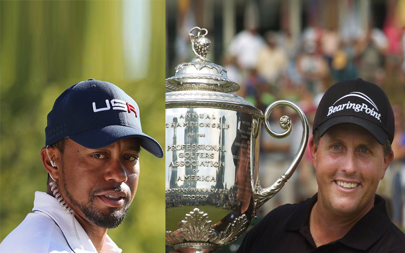 Tiger Woods et Mickelson. Crédit Photo Mark Newcombe