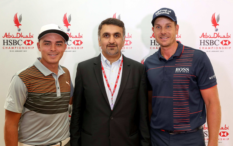Rickie Fowler et Henrik et Stenson. Crédit photo Getty Images, Abu Dhabi Sports Council