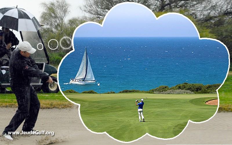 Le rêve des golfeurs en automne et en hiver : aller jouer au golf au soleil