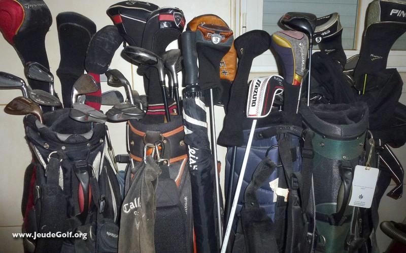Se débarrasser de son ancien équipement de golf, ou devenir collectionneur ?