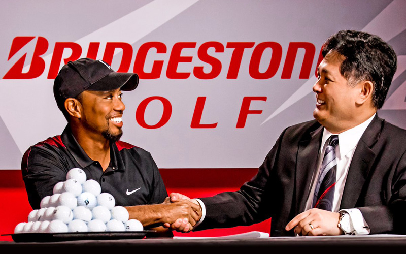 Tiger Woods, crédit photo : Bridgestone golf
