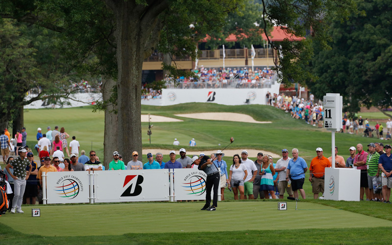 Le 18e trou du WGC-Bridgestone Invitational. Photo Mark Newcombe - visioningolf