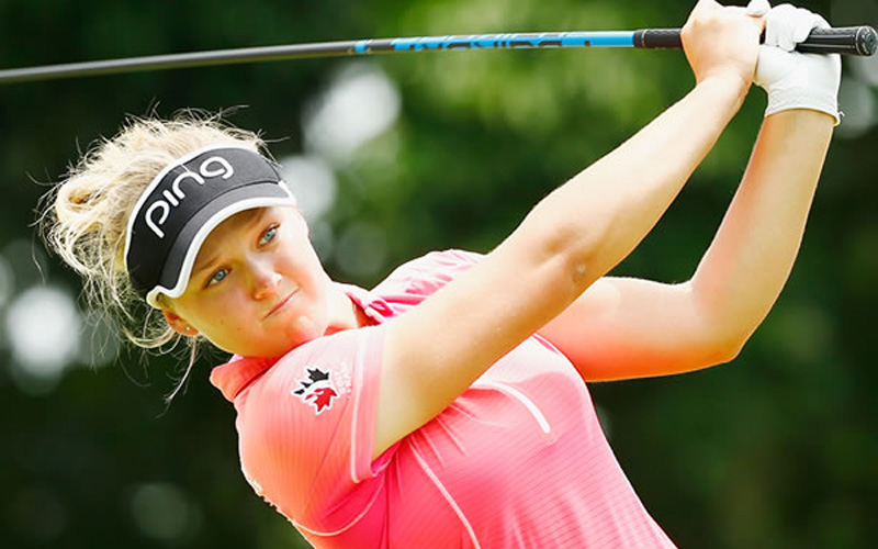 Brooke Henderson. Crédit photo Ping