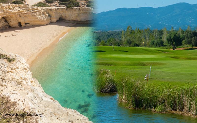 Image : JeudeGolf.org avec Fotolia. Parcours de golf et plage