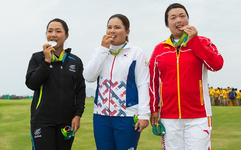 Golf en chine, J O, Shanshan Feng