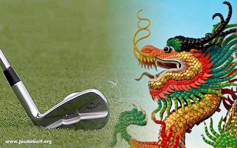 Golf en chine, nouvel an, l'année du coq de feu