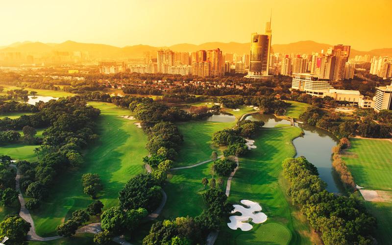 Golf en chine, parcours