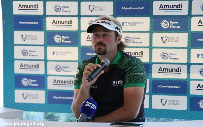 Victor Dubuisson à la conférence de presse Open de France 2016