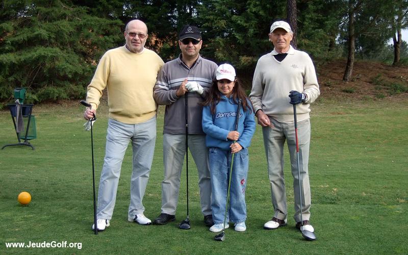4 générations de golfeurs