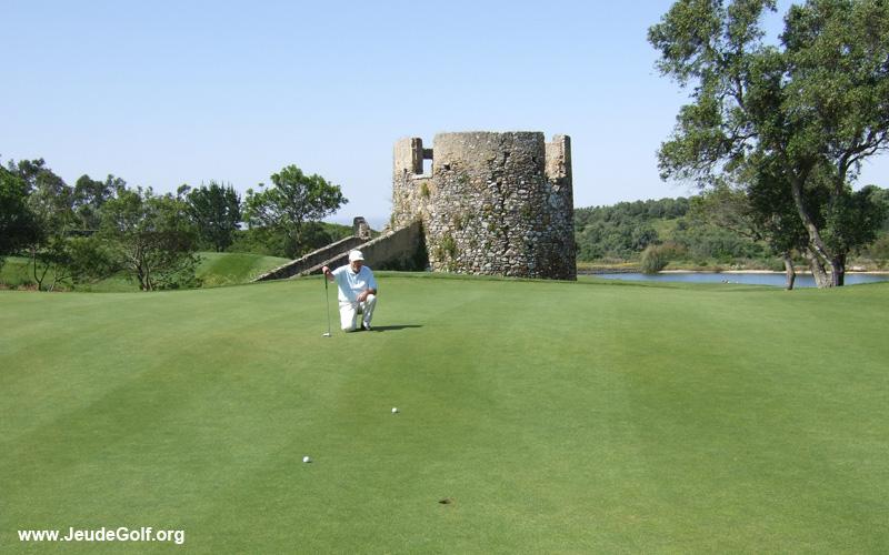 un beau green, golf de Pehna-Longa
