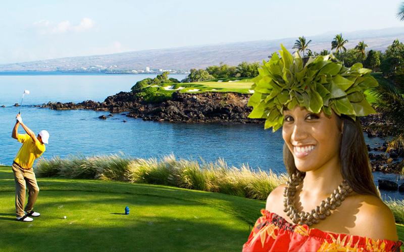 Image JeudeGolf.org, avec Fotolia et Mauna Kea Golf Course