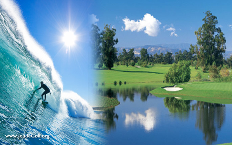 Sea, Surf, Sun and Golf. Jouer au golf à Orange, en Californie
