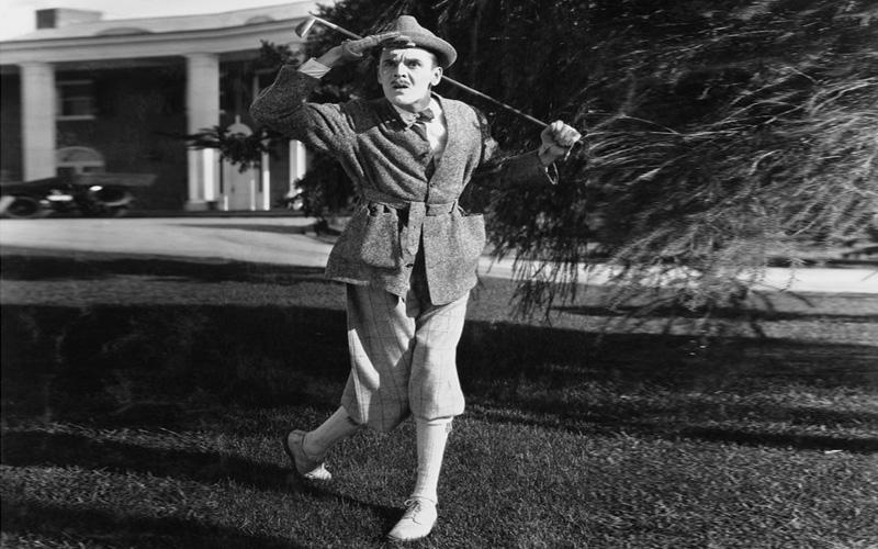 la vieille image du golfeur