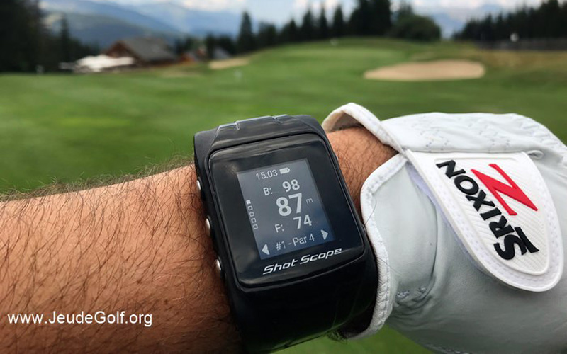 Test de la montre GPS de golf ShotScope V2