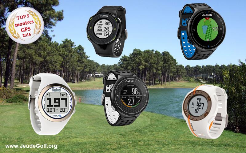 Top 5 2016 des montres GPS de golf