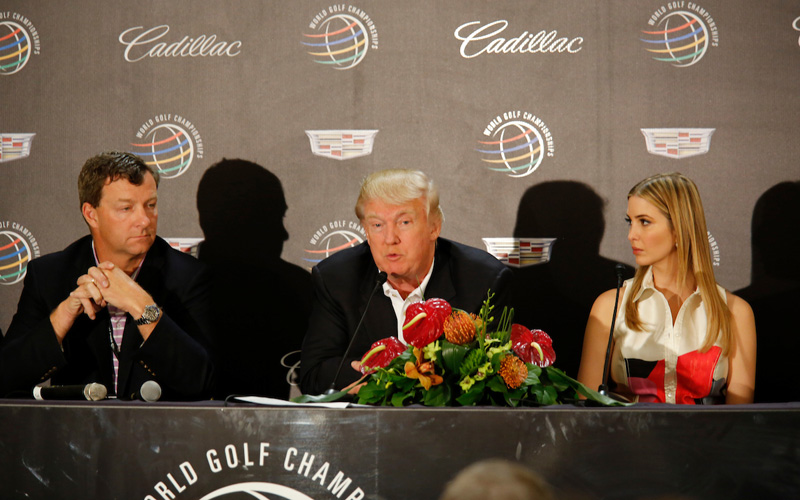Donald Trump, photo Mark Newcombe Visioningolf