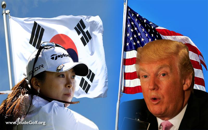 Une pluie d'étoiles coréennes sur Donald Trump lors de l' U.S. Women's Open 2017