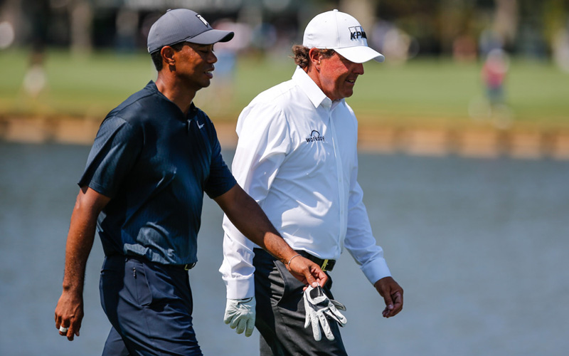 Tiger Woods, Phil Mickelson, Players Championship. Crédit photo : David Rosenblum/Icon Sportswire